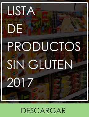 Lista de Productos sin gluten